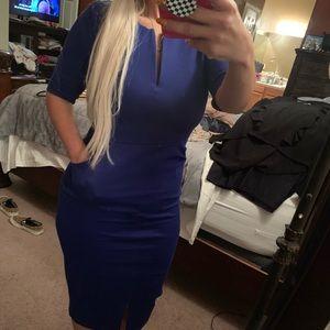 Royal blue suit dress